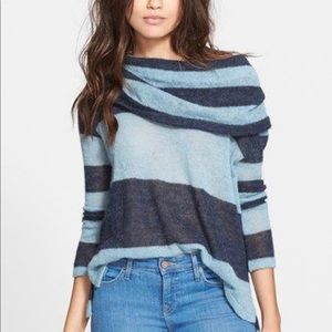 Free People LuLu Rugby Off the Shoulder Sweater